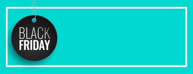 Banner de venta de viernes negro azul con espacio de texto vector gratuito