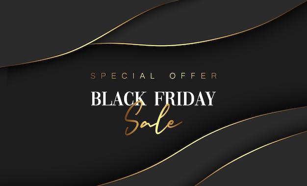 Banner de venta de viernes negro moderno. Vector Premium