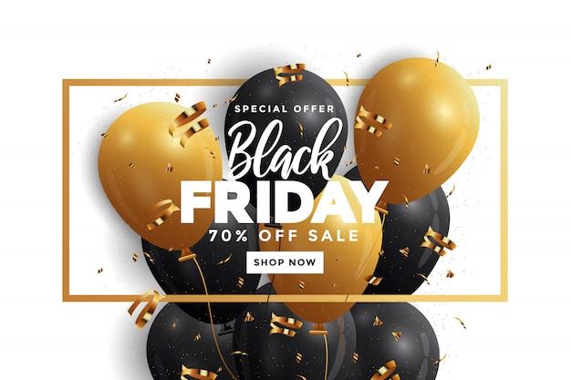 Banner de venta de viernes negro Vector Premium