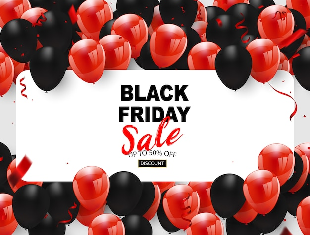 Banner de venta viernes negro Vector Premium