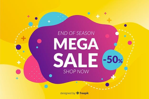 Banner de ventas colorido abstracto vector gratuito