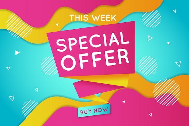 Banner de ventas en diseño estilo origami vector gratuito