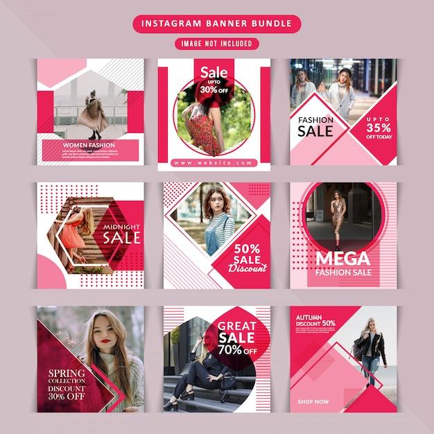 Banner web de moda para redes sociales. Vector Premium