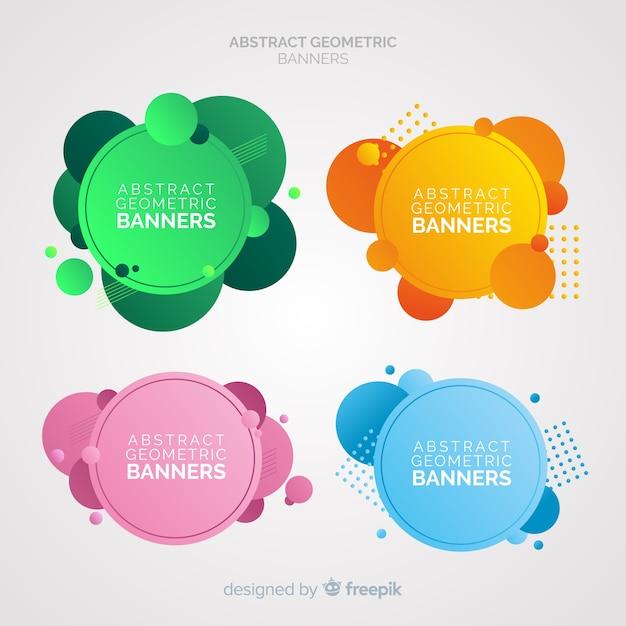 Banners abstractos y geométricos vector gratuito