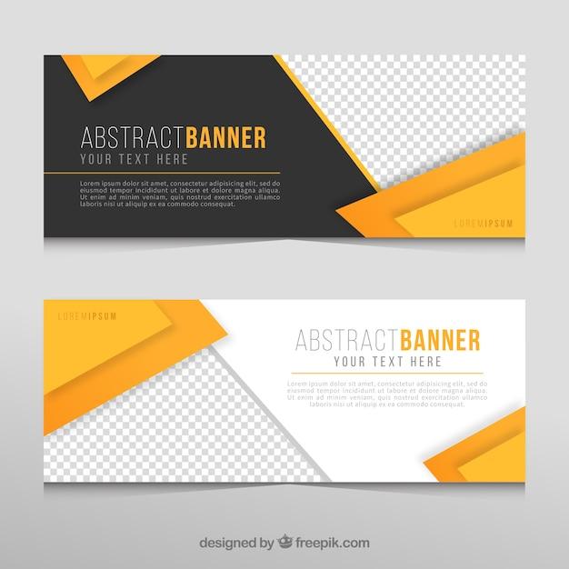 Banners abstractos de negocios vector gratuito
