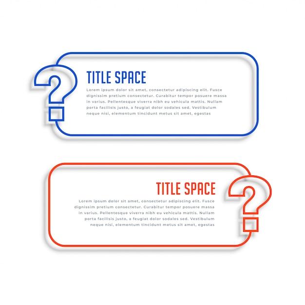 Banners de ayuda y soporte web de estilo de línea vector gratuito