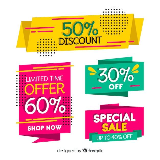 Banners de compras vector gratuito