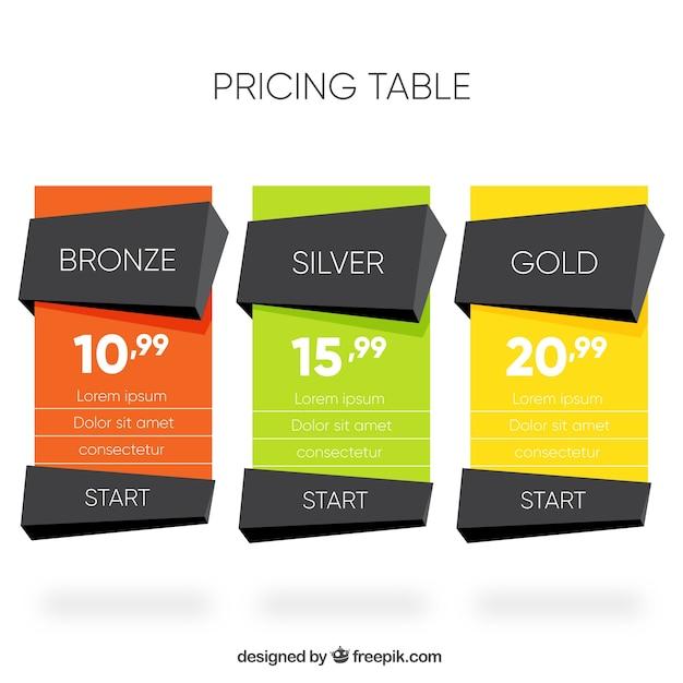 Banners de precios poligonales de colores Vector Gratis
