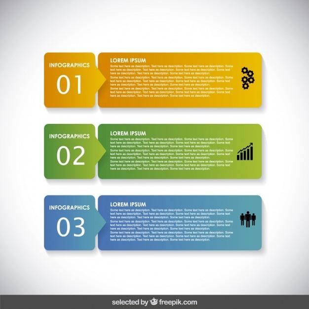Banners infográficas horizontales vector gratuito