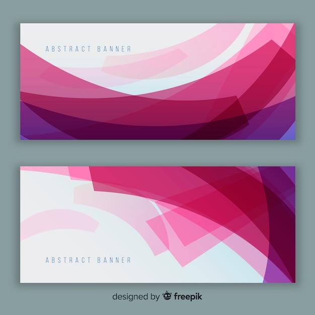 Banners modernos con diseño abstracto vector gratuito
