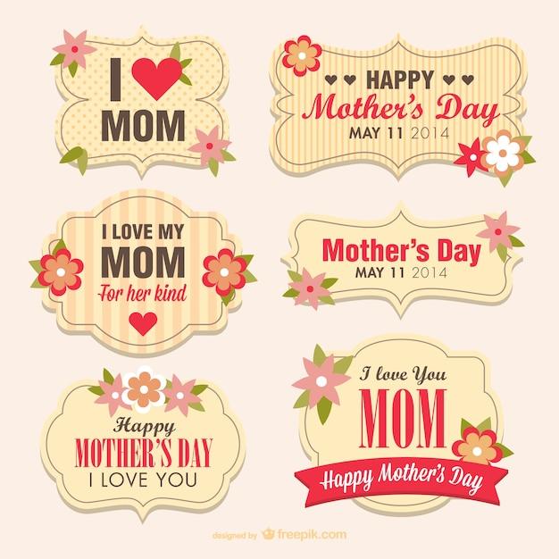Banners para el dia de la madre Vector Gratis