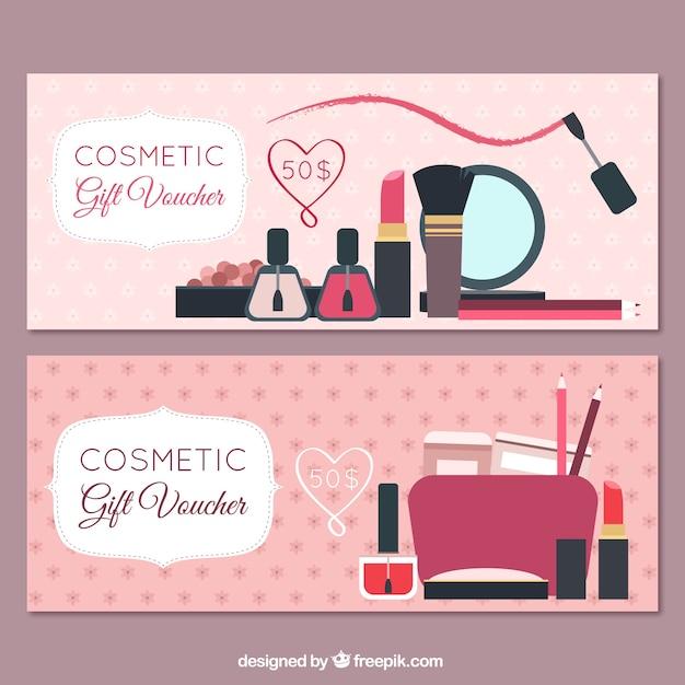 Banners de productos de belleza vector gratuito