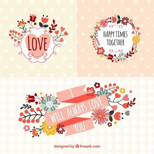 Banners románticos en estilo primaveral   Descargar