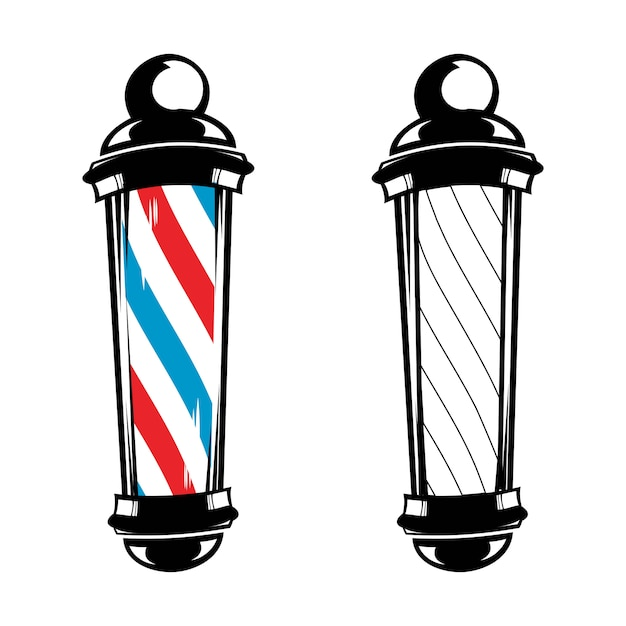 Barbería pole stripes classic Vector Premium