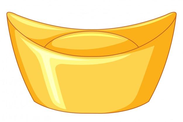 Barra de oro sobre blanco vector gratuito
