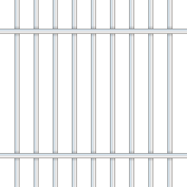 Barras de prisión aisladas en transparente. Vector Premium