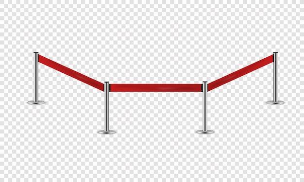 Barrera de plata con cinta roja para vip Vector Premium