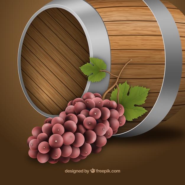 Barriles fotos y vectores gratis - Barril de vino ...