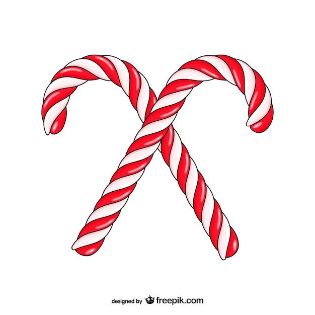 bastones de caramelo de navidad descargar vectores gratis