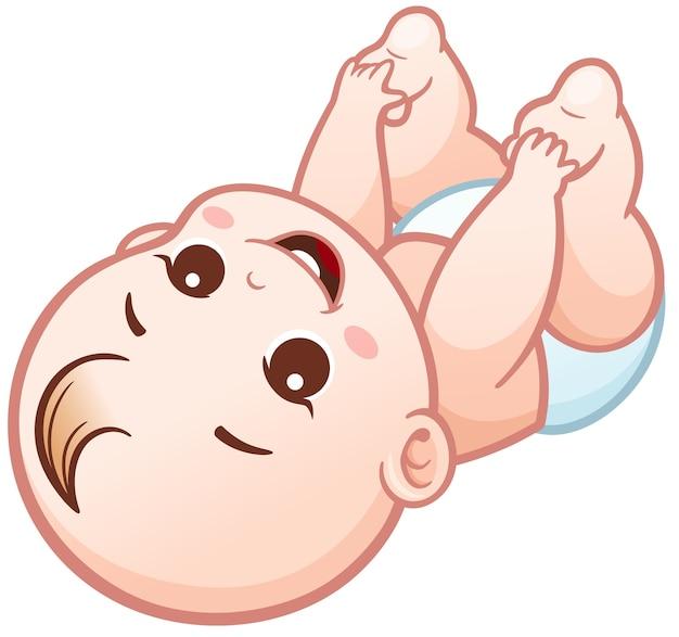 Bebé De Dibujos Animados Descargar Vectores Premium