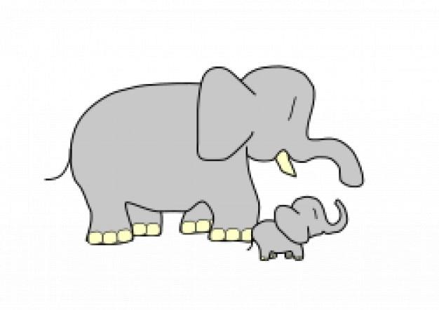 Bebé Elefante Descargar Vectores Gratis