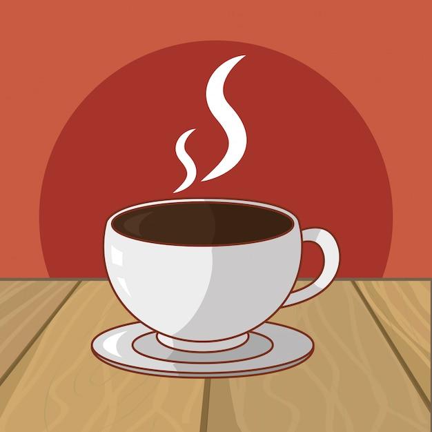 Bebida caliente de dibujos animados Vector Premium
