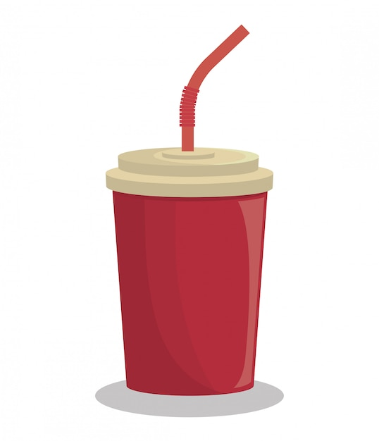 Bebida soda bebida aislado Vector Premium