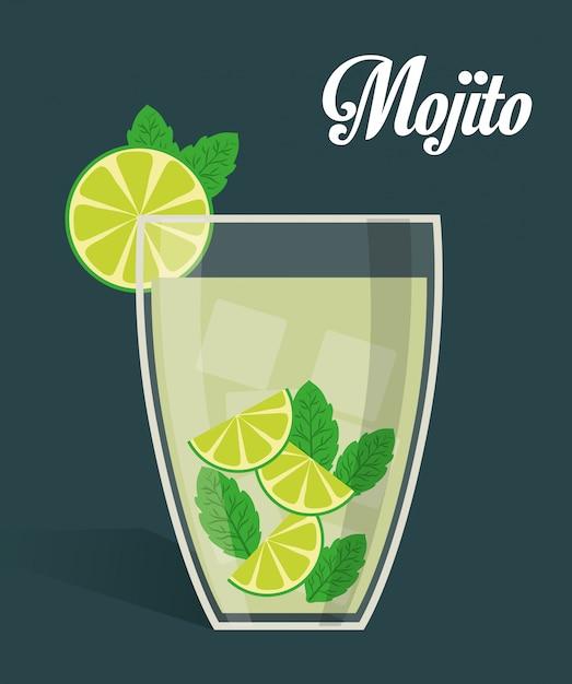 Bebidas de diseño digital. Vector Premium