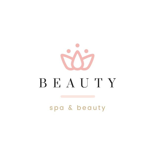 Belleza y spa logo vector vector gratuito