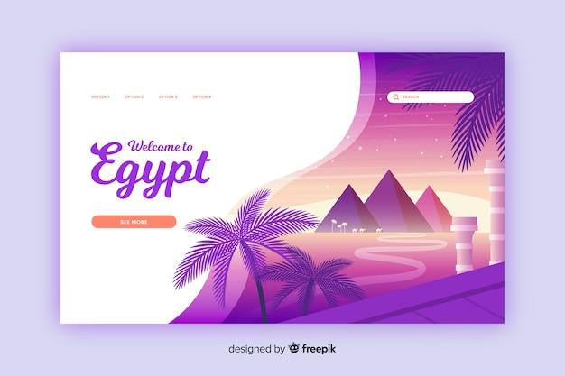 Bienvenido a la página de destino de egipto vector gratuito
