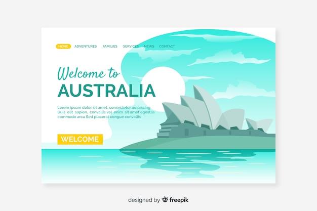 Bienvenido a la página de inicio de australia vector gratuito