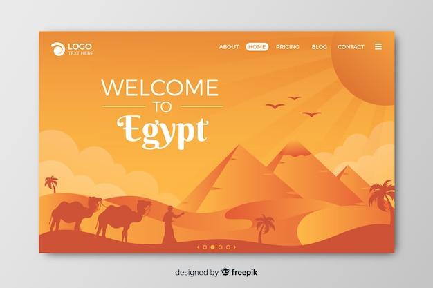 Bienvenido a la página de inicio de egipto vector gratuito