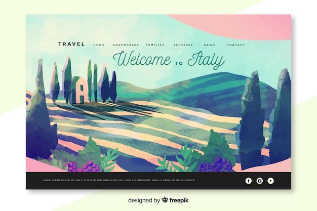 Bienvenido a la página de inicio de italia vector gratuito