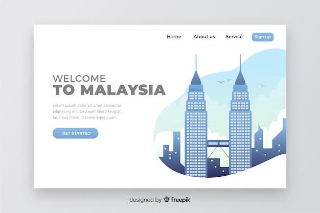 Bienvenido a la página de inicio de malasia vector gratuito