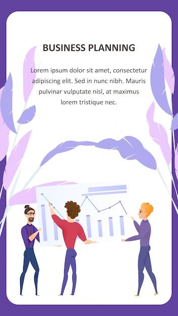 Big data analysis grath vector mobile banner vector gratuito
