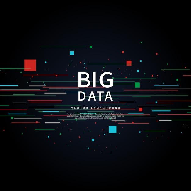 Big data de tecnologías futuras Vector Premium