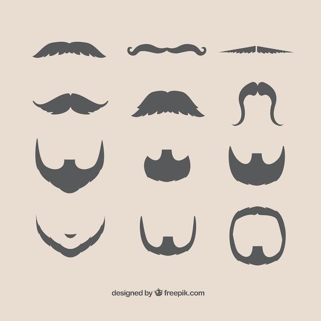 Bigotes y barbas | Descargar Vectores gratis