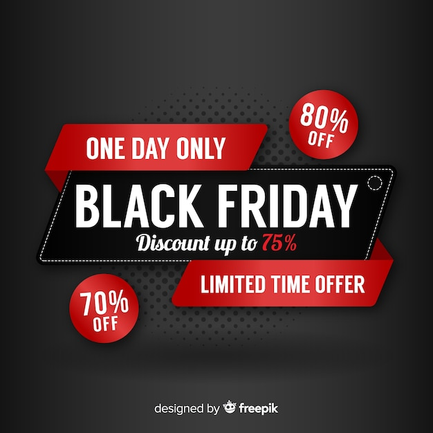 Black friday vector gratuito