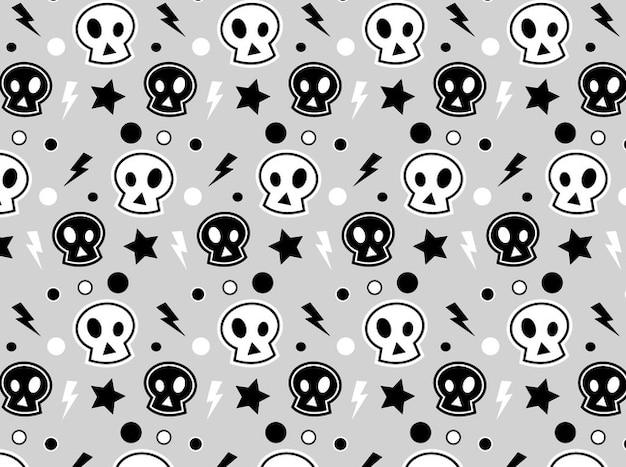 Blanco y negro calaveras bacground descargar vectores gratis for Immagini teschi disegnati