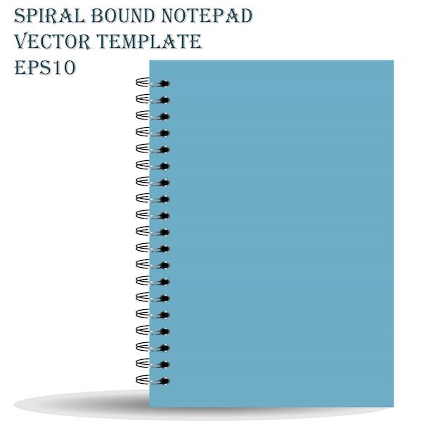 Bloc de notas con espiral vector gratuito