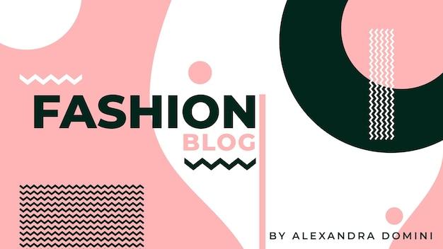 Blog de banner de moda vector gratuito