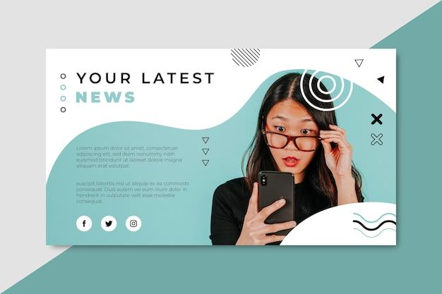 Blog de banner de noticias vector gratuito