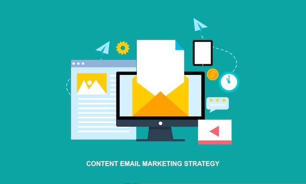 Blogs de negocios, publicación de blogs comerciales, servicio de blogs de internet, ilustración vectorial de diseño plano Vector Premium