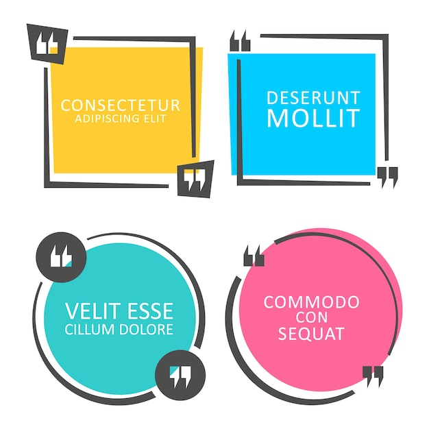 Bocadillo de diálogo de color cita Vector Premium