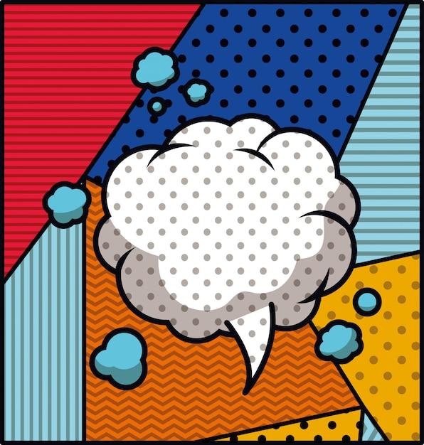Bocadillo de diálogo estilo de arte pop ilustración vectorial vector gratuito