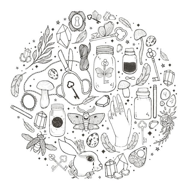 Boceto ilustracion grafica Vector Premium