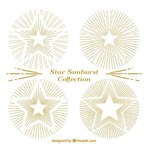 Bocetos De Bonitas Estrellas Doradas Descargar Vectores Gratis