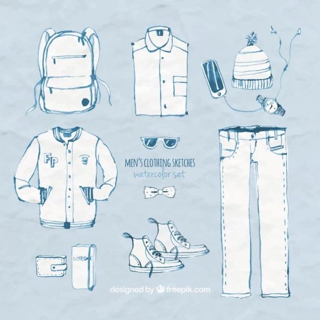 d83b73371 Bocetos de ropa para hombre   Descargar Vectores gratis