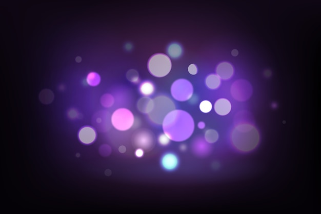 Bokeh efecto de luces sobre fondo oscuro vector gratuito