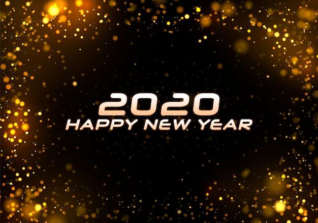 Bokeh sparkle navidad 2020 fondo. Vector Premium